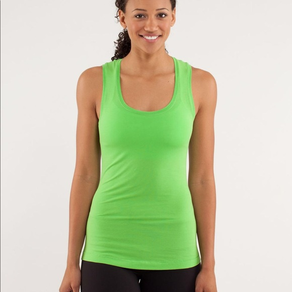 Lululemon Clarity Tank green cotton tank top